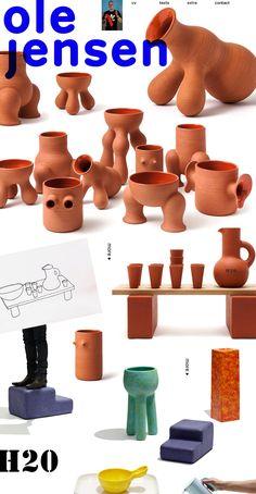 ole jensen Ceramic Shop, Ceramic Design, Ceramic Pottery, Ceramic Art, Abstract Sculpture, Sculpture Art, Art Decor, Decoration, Window Display Design