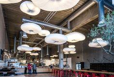 cloud lamps from @molostudio. Ceiling lamp, pendant, acoustic lamp, loft lampe, pendel, akustisk lampe