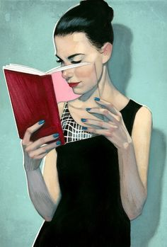 Illustration by Fernando Vicente - #reading #books
