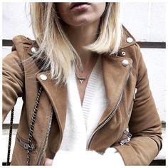 """⚪️⚪️ • Jacket #thekooples (from @thekooplesofficial) • Knit #gestuz (from @gestuz) • Necklace #margidarika (from @shopinsidecloset) ..."""