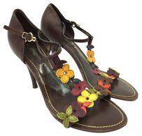 Louis Vuitton Heel Dark Brown Sandals