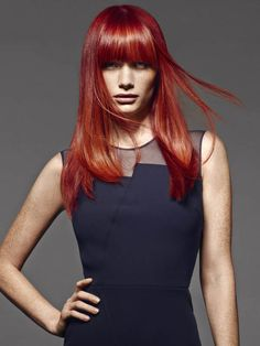 Feuriges Rot - Haarfarben Hair Colour Red