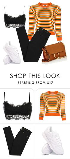 """""""cortona"""" by katniss1212 ❤ liked on Polyvore featuring Courrèges, Yves Saint Laurent, Reebok and Chloé"""