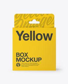 Download Slide Box Mockup Free Yellow Images
