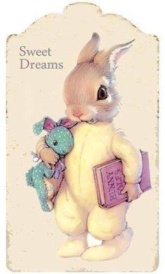 Animal Drawings, Cute Drawings, Etiquette Vintage, Bunny Art, Baby Kind, Vintage Easter, Peter Rabbit, Vintage Cards, Cute Art
