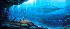 "Nautilus Leagues Under the Sea"" (Art Work) Jules Verne, Disney Love, Disney Art, Nautilus Submarine, Disney Live Action Films, Disney Classics Collection, Sci Fi Novels, Leagues Under The Sea, Duck Tales"
