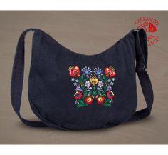 Szervető-kalocsai félhold táska - farmer Farmer, Diaper Bag, Backpacks, Bags, Fashion, Handbags, Moda, Fashion Styles, Diaper Bags