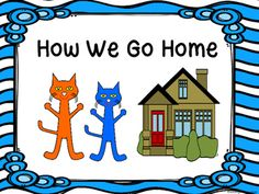 Enjoy these How We Go Home Posters.  Hang on a ribbon and add clips with student names.  They include Car Riders, Walkers, Bus Riders and Day Care Van.  They coordinate with other Cool Cat Items on wiggly wave background paper by Krista Wallden.Cool Cat Schedule Cards (Wiggly Wave Background)Cool Cat Number Posters (Wiggly Wave Background)Cool Cat Color Posters (Wiggly Wave Background) Cool Cat Behavior Clip Chart (Wiggle Wave Background)Cool Cat Classroom Rules (Wiggle Wave Background)Cool…