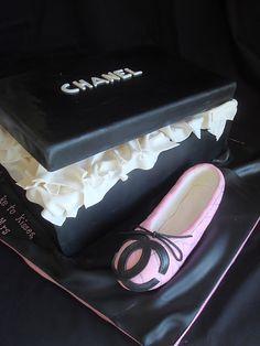 Chanel ballet shoe cake
