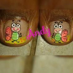 Short Nails, Feet Nails, Pedicures, Nail Designs, Nail Art, Fingernail Designs