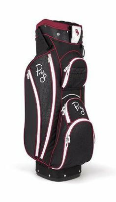 Ping 2012 Faith Ladies Golf Cart Bag (Black/Berry) by Ping. $152.79. Already known for making some of the best golf bags in the world, Ping has built quite possibly the perfect ladies golf bag with it's Faith model. Weighs in at 5.5 pounds. This bag is designed for form and function. Perfect for a sophisticated lady golfer. Has more than ample storage space (8 pockets), features unique heat stamp detailing, and comes in a trio of colors. Has a 14-way top divider, molded putter we...