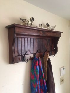 """Custom 30"""" 4 hooks only. Handcrafted Wood wall mount Coat Rack, Display Shelf Key  Red Mahogany and other sizes by WindyWoodsWoodcraft on Etsy https://www.etsy.com/listing/211379122/custom-30-4-hooks-only-handcrafted-wood"""