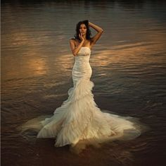 Sexy!  #wedding dress....needs a sweetheart neckline but this would look amazing on u