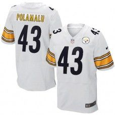 NFL Mens Elite Nike  Pittsburgh Steelers #43 Troy Polamalu White Jersey$129.99