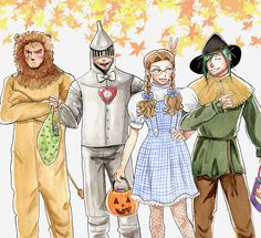 Thunder legion Halloween! Laxus Dreyar, Bickslow, Evergreen, Freed Justine