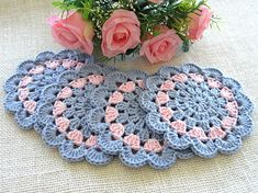 Items similar to Coaster Crochet Coasters Placemat Table linens Kitchen Decor Gift Crochet Doilies Tablecloth Crochet Doily Round Cotton Table Home Decor on Etsy Crochet Square Blanket, Baby Afghan Crochet, Crochet Quilt, Crochet Motif, Crochet Doilies, Crochet Yarn, Easy Crochet, Crochet Coaster Pattern, Crochet Flower Patterns