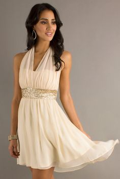 If I could find some matching chiffon, this would take care of the neckline AND the plain waist...