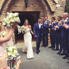 """BIG congratulations to the beautiful Mr & Mrs Le Cuirot! Bridesmaid Dresses, Wedding Dresses, Beautiful Couple, Black Art, Lace Wedding, London, Congratulations, Blush, Navy"