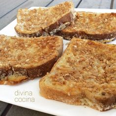 Estas tostadas de leche condensada se preparan en pocos minutos, con solo 3 ingredientes. Su sabor caramelizado y su textura crujiente te van a sorprender.
