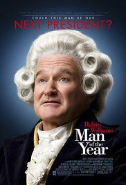 Man of the Year Poster 2006 Robin Williams played Tom Dobbs