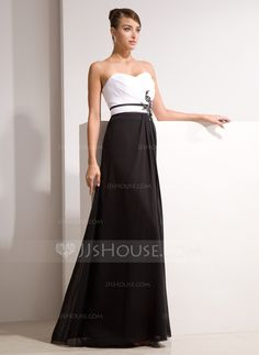 Evening Dresses - $146.99 - A-Line/Princess Sweetheart Floor-Length Chiffon Charmeuse Evening Dress With Ruffle Beading Appliques (017014461) http://jjshouse.com/A-Line-Princess-Sweetheart-Floor-Length-Chiffon-Charmeuse-Evening-Dress-With-Ruffle-Beading-Appliques-017014461-g14461