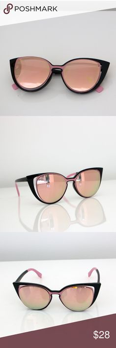 *Cats eye glasses* Talk of the town cats eye glasses in black and pink, new without tags. Really fun! talk of the town Accessories Glasses