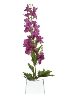 Floral Elegance Artificial 80cm Single Stem Magenta Candle Larkspur Flower ** Want to know more, click on the image. #PlantsSeedsandBulbs
