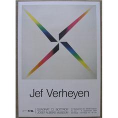 Quadrat Bottrop, Josef Albers museum#JEF VERHEYEN# 1994,poster mint