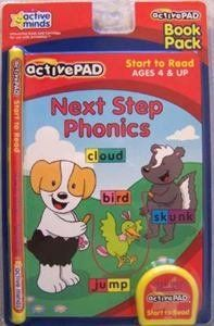 """Active Pad Ready To Read & Next Step Phonics 2 Pack Set by Active Minds. $5.00. Help your child get excited about learning to read! This fun interactive set will help your child who is """"Ready To Read"""" take those first steps. Set comes with both book and cartridge. Ages 4 and up.A follow-up to Beginner Phonics, this book introduces consonant blends and longer words. Children learn to sound out words by mastering common letter combination.Teaches: Consonant Blen..."""