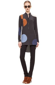 Akris punto Dot Pattern Silk Tunic available at #Nordstrom