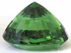 Tsavorite, Tanzania. Weighing in at 325.14 carats and priced well over two million dollars, this extraordinary tsavorite is one of the largest most valuable gems ever to be discovered in East Africa and  most likely the largest fine colour clean tsavorite in the world.