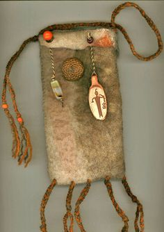 Shaman wet felted bag by ThistleWoolworks on Etsy, $65.00