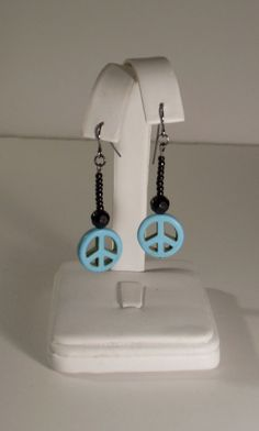 Turquoise Peace Earrings by GypsiesandQueens on Etsy, $13.00