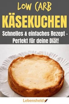 Low carb cheesecake with base - quick and easy - life .- Low carb Käsekuchen mit Boden – Schnell und einfach – Lebensheld Low carb cheesecake with base – quick and easy – life hero - Low Carb Cheesecake, Cheesecake Recipes, Dessert Recipes, Snacks Recipes, Low Carb Desserts, Low Carb Recipes, Healthy Recipes, Law Carb, Low Carb Diet