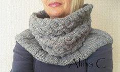 """lo spazio di lilla: Scaldacollo ai ferri   knitted Chunky cowl """" Intrecci & Coste """"  free pattern"""