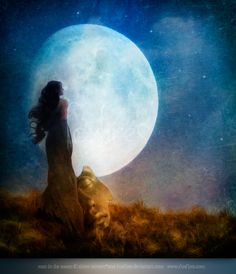 Man in the Moon - 2011 by `Foxfires Digital Art / Photomanipulation / Emotional