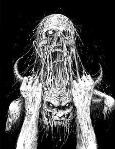 oddities, crackwhores, melancholia - unsaturated — by Mark Riddick Arte Horror, Horror Art, Creepy Art, Scary, Dark Fantasy, Fantasy Art, Art Sinistre, Satanic Art, Evil Art