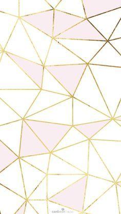 pink gold white geometric mosaic so much fun   ban.do