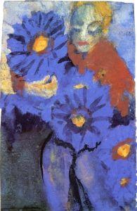 Flower Lady - Emil Nolde - The Athenaeum