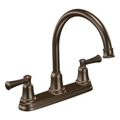 Moen CFG 41611OWB Capstone Two Handle High Arc Kitchen Faucet, Old World Bronze #ClevelandFaucetGroup