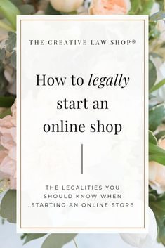 Are you thinking about selling products from an online shop? Make sure you lay your legal foundation right from the start. For more tips from a creative attorney and legal templates to protect your business. Etsy Business, Craft Business, Business Advice, Business Planning, Creative Business, Diy Business Ideas, Business Website, Business Quotes, Web Design