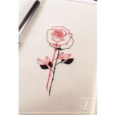 on trend tattoos Uv Tattoo, Body Art Tattoos, Small Tattoos, Tatoos, Rose Outline, Little Rose Tattoos, Tattoo Apprentice, Future Tattoos, Delicate Tattoo