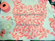 Crochet y Bebê: Crochet irlandês feito por mim, para um vestido de 15 anos em fotos e fatos!!!