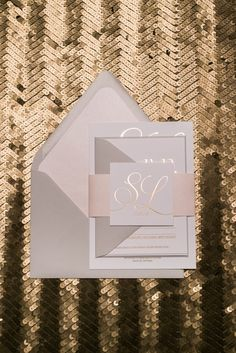 Wedding Invitations, Gold Foil, Neutral Color Schemes, Blush and Light Grey, Modern, Matthew Suite, Jupiter and Juno