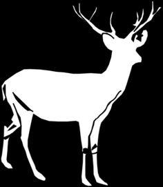 Deer White 2 Clip Art
