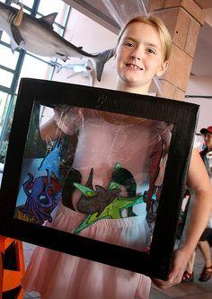 A homemade aquarium fish tank - great Halloween costume idea!...