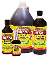 What's the Deal With Liquid Amino Acids? Contains 16 out of 20 amino acids your body needs. While Braggs does function as a gluten-free alternative to soy sauce, which often contains wheat, it shouldn't be thought of as a low-sodium replacement for it. One teaspoon of soy sauce contains 177 mg of sodium, and the same amount of Bragg Liquid Aminos contains 280 mg.