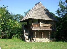 """Traditional houses in rural Romania (case traditionale romanesti) *** Upon arriving in her new home country in the young wife of Prince Carl of Romania noticed in her writings: """"Every R… German Architecture, Vernacular Architecture, Petits Cottages, Romania People, Rural House, Medieval Houses, Bucharest Romania, Hip Roof, European House"""