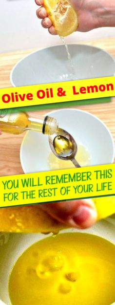 Make Mixture Of A Tbsp of Olive Oil & 1 Lemon & You Will Remember This For The Rest Of Your Life!!! - All What You Need Is Here