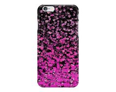 Pink Ombre Confetti Hearts Phone Case, Black and Pink Phone Case, Love Phone Case, Cute Phone Case, iPhone, Samsung Galaxy